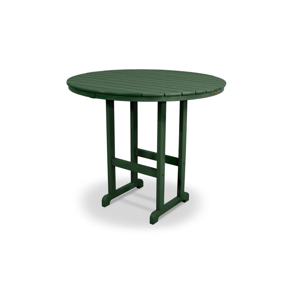 POLYWOOD La Casa Cafe Slate Grey 48 in Round Patio Bar TableRBT248GY  The Home Depot