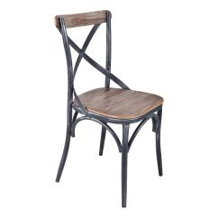 Industrial Dining Chair Chicco High Recall Armen Living Sloan Grey Set Of 2