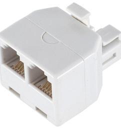 power gear 2 way 4 conductor phone splitter white [ 1000 x 1000 Pixel ]