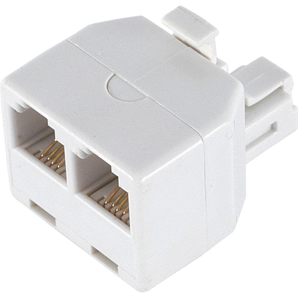 hight resolution of power gear 2 way 4 conductor phone splitter white