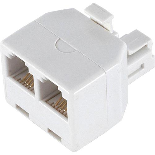 small resolution of power gear 2 way 4 conductor phone splitter white