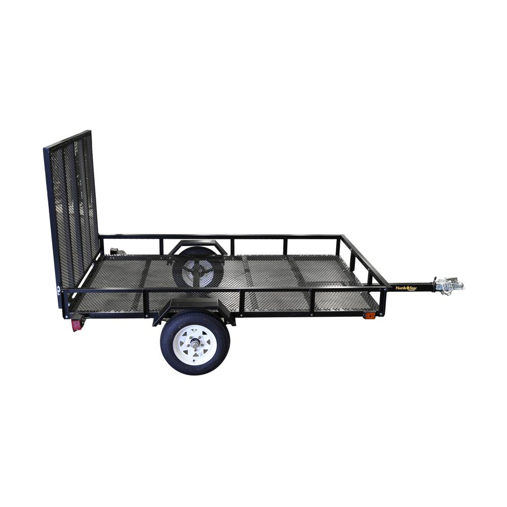 hight resolution of utility trailer kit with rear loading ramp nn58 the home depot