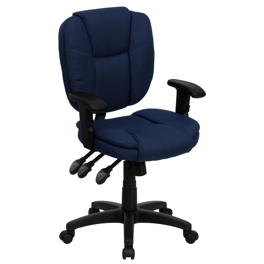 Flash Furniture MidBack Navy Blue Fabric MultiFunctional