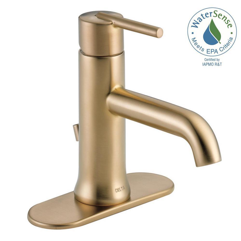 Delta Trinsic Single Hole SingleHandle Bathroom Faucet