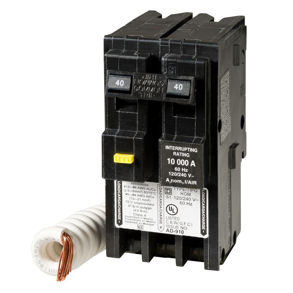 medium resolution of  7 square d homeline 40 amp 2 pole gfci circuit breaker