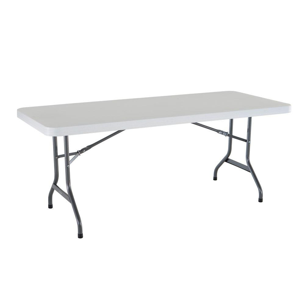 Lifetime 6 Ft White Granite Folding Utility Table 22901