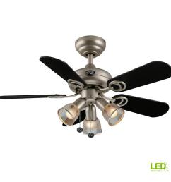 led indoor brushed steel ceiling fan with [ 1000 x 1000 Pixel ]