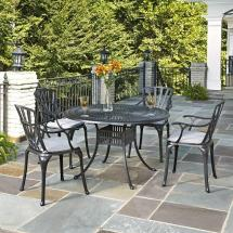 Home Styles Stone Harbor 51 In. 7-piece Slate Tile Top
