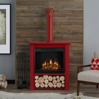 Real Flame Hollis 32 in. Freestanding Electric Fireplace ...