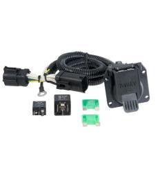 curt custom wiring harness 7 way rv blade output  [ 1000 x 1000 Pixel ]
