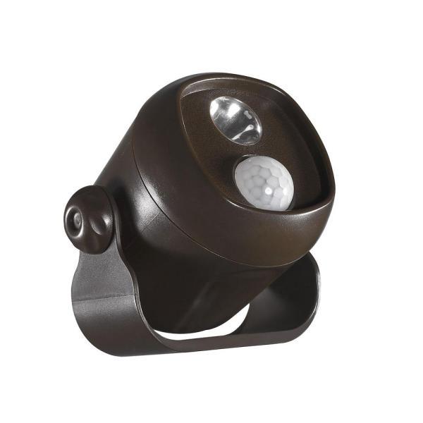 Acclaim Lighting Battery Operated Bronze Led Single Mini Spotlight-b200bz - Home Depot