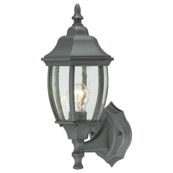 Thomas Lighting Covington 1-light Black Outdoor Wall-mount Lantern-sl92237 - Home Depot