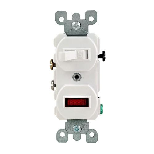 small resolution of leviton 1 25w 125v combination switch with neon pilot light white