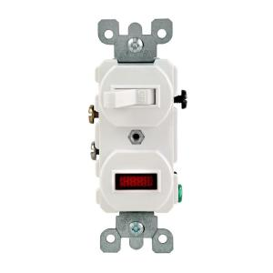 Leviton 125W125V Combination Switch with Neon Pilot