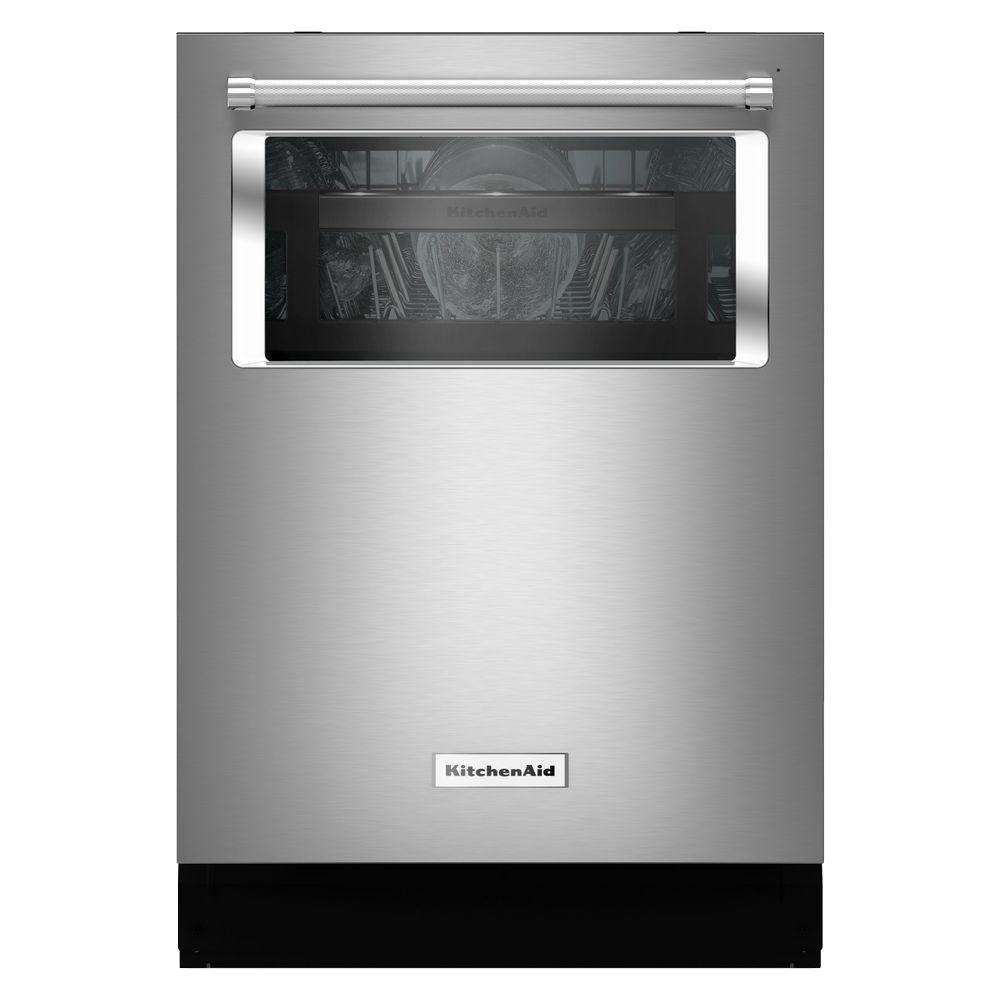 KitchenAid 24 in Top Control Dishwasher with Window in