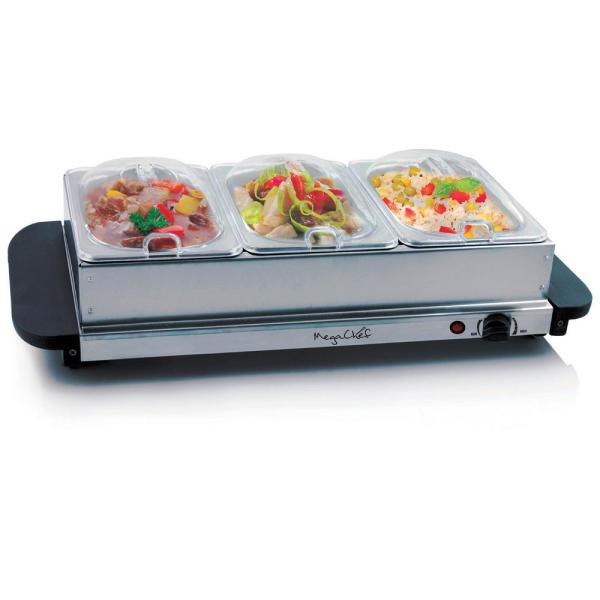 Megachef Buffet Server And Food Warmer With 3 Sectional