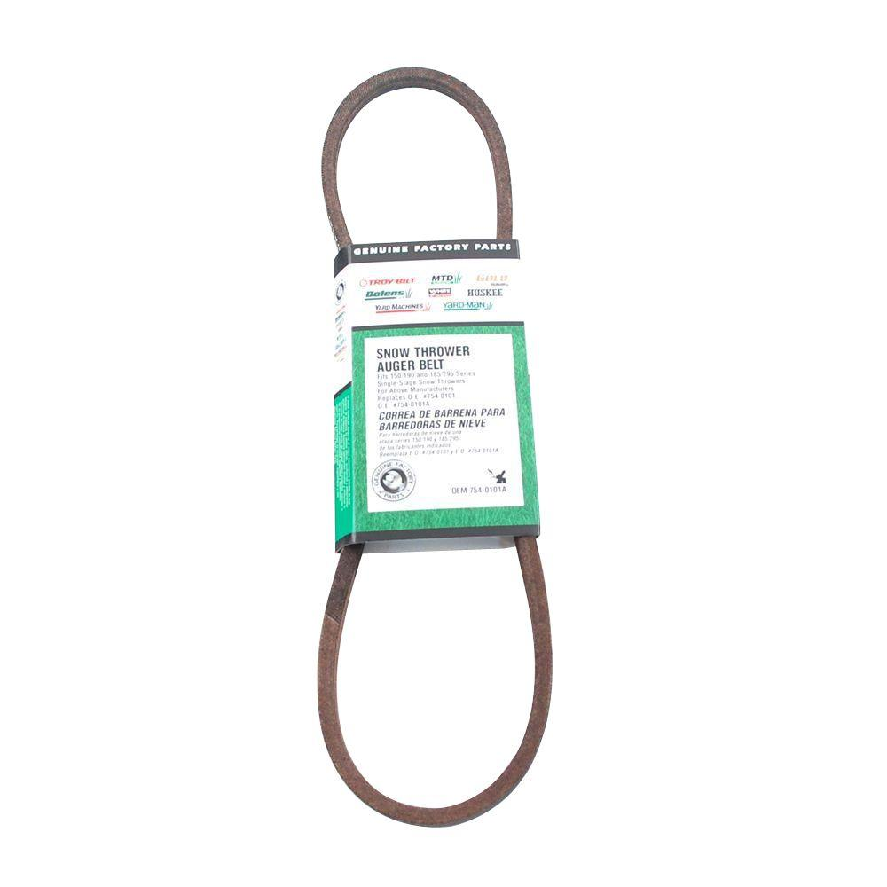 hight resolution of mtd genuine factory parts single stage auger belt oem 754 0101a