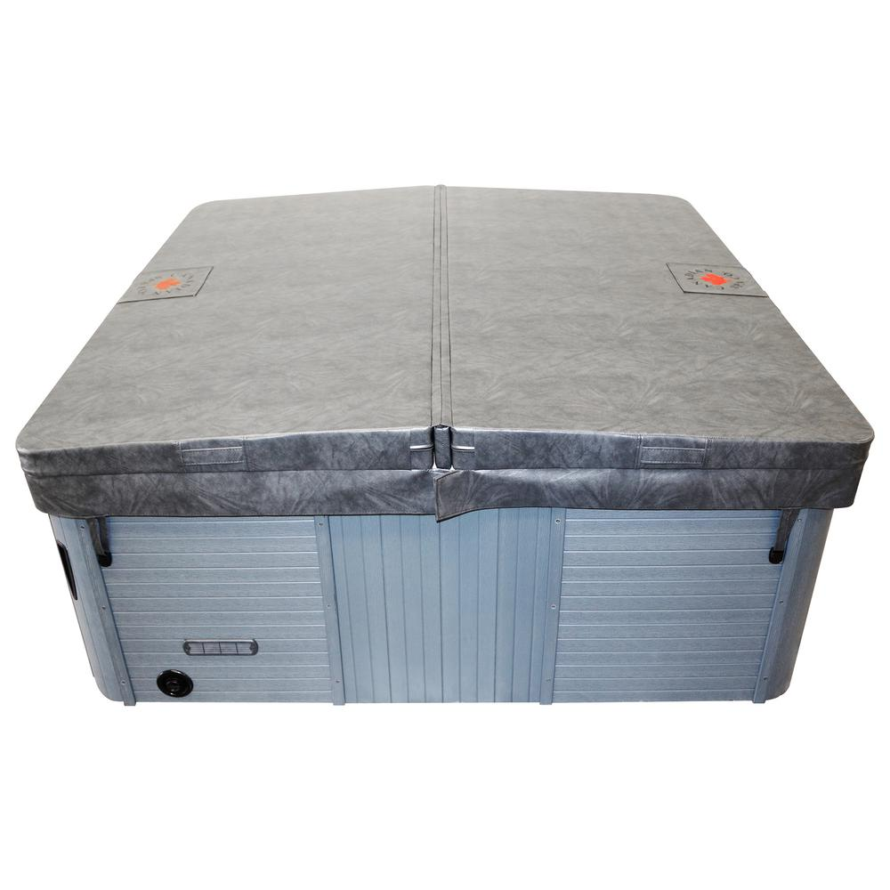 Canadian Spa Company 90 In X 90 In Square Hot Tub Cover With 5 In 3 In Taper Charcoal Kc 10017 The Home Depot