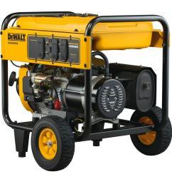 dewalt 7 000 watt gasoline powered electric start portable generator dxgnr7000 the home depot [ 1000 x 1000 Pixel ]