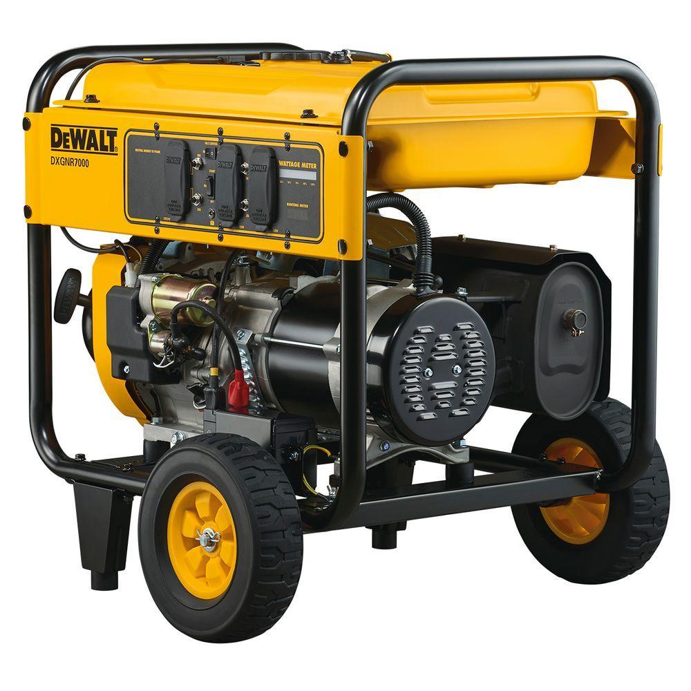 hight resolution of dewalt 7 000 watt gasoline powered electric start portable generator dxgnr7000 the home depot