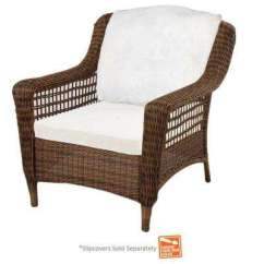 Lounge Outdoor Chairs Plastic Chair Covers Nz Patio The Home Depot Spring Haven Brown Wicker