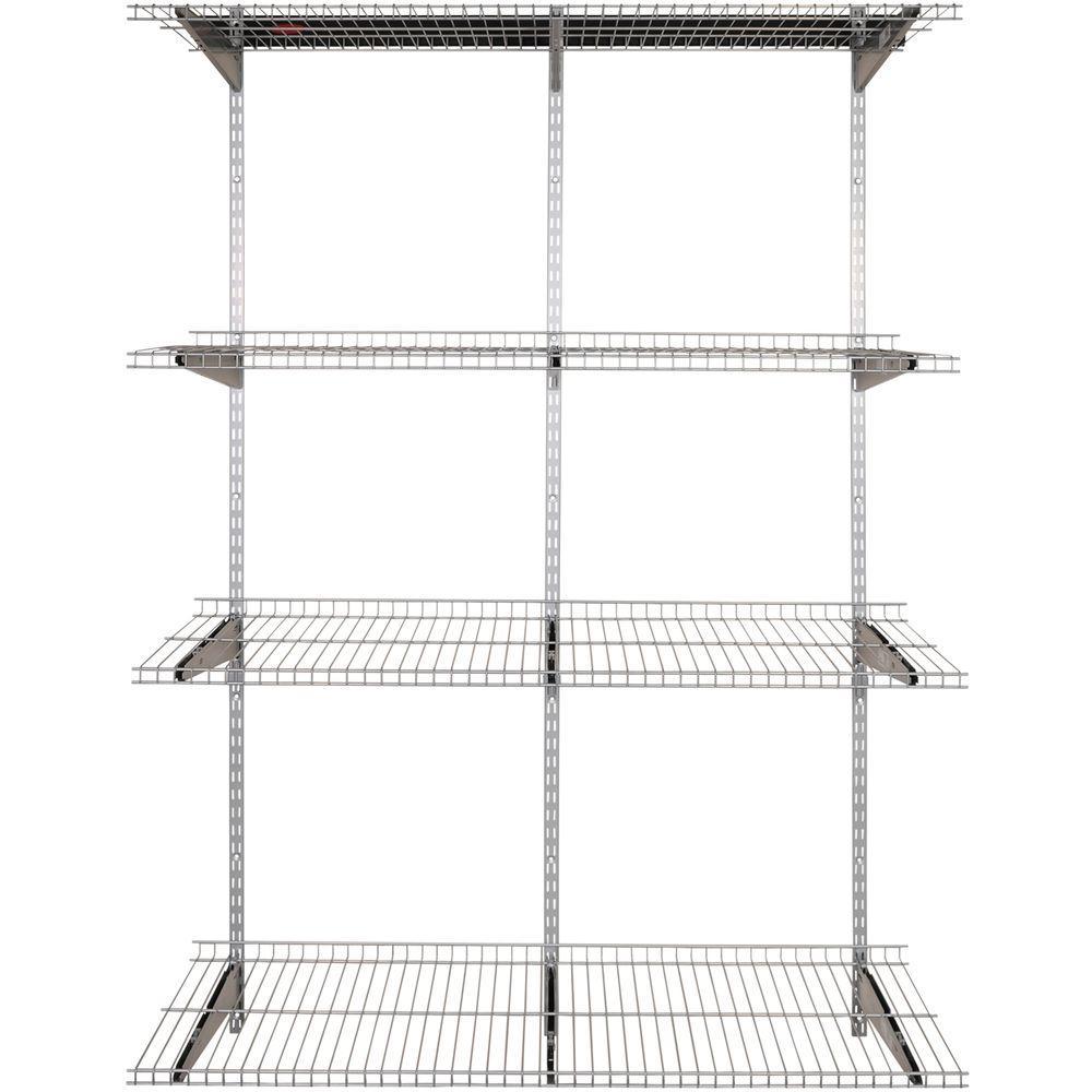 Rubbermaid FastTrack Garage 4-Shelf 16 in. x 48 in. Silver