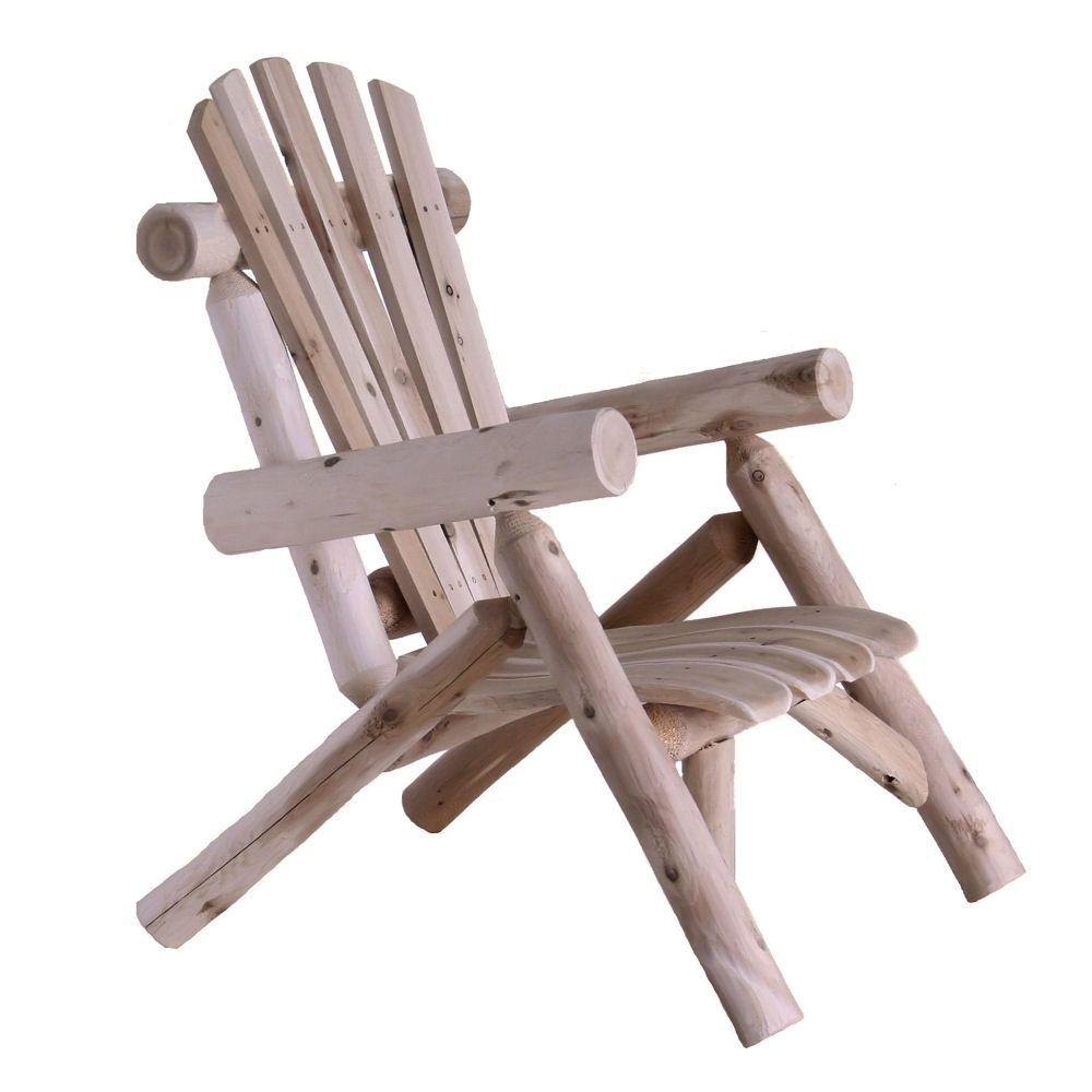 Folding Wood Beach Chair Lakeland Mills Cedar Log Patio Lounge Chair