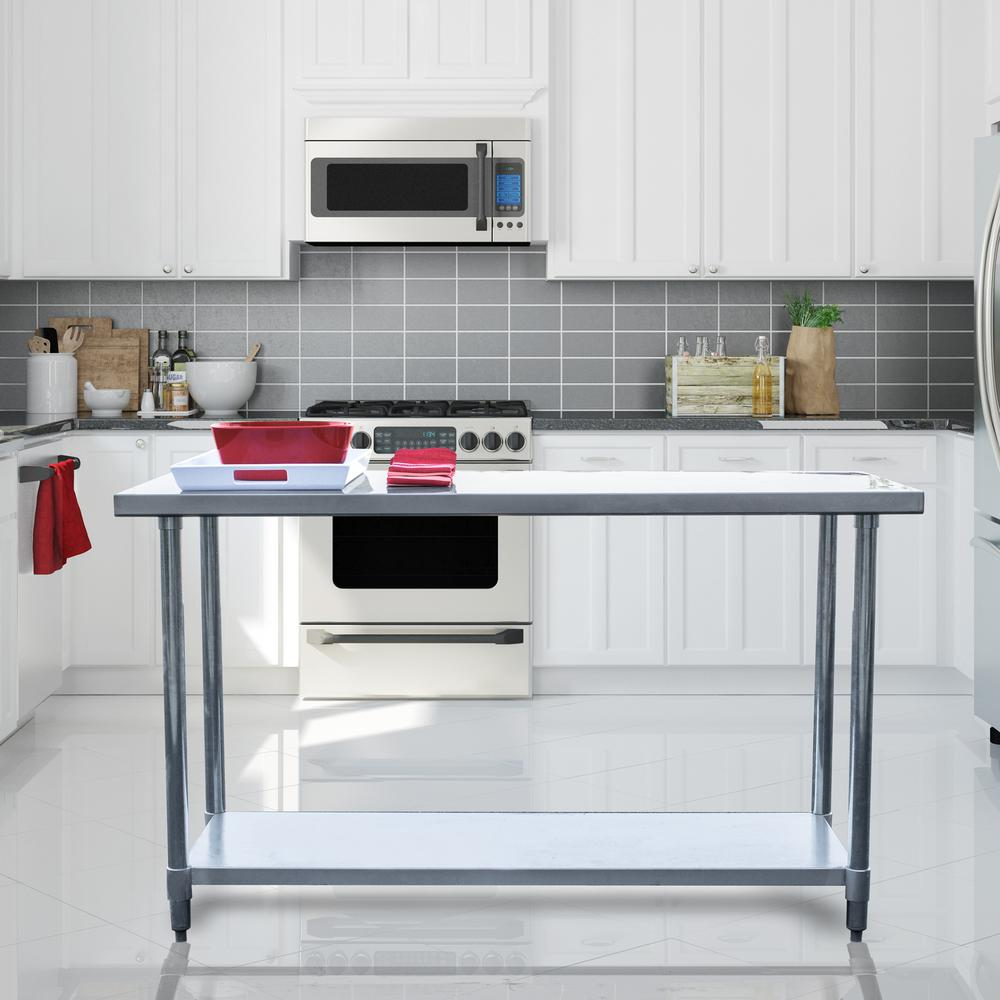 stainless steel kitchen table renovations sportsman utility sswtable60 the