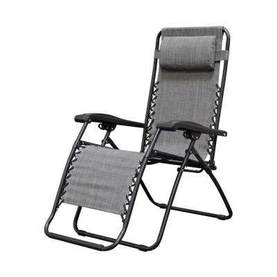 lawn chairs home depot bubble chair swing stand gray patio furniture the infinity grey metal zero gravity