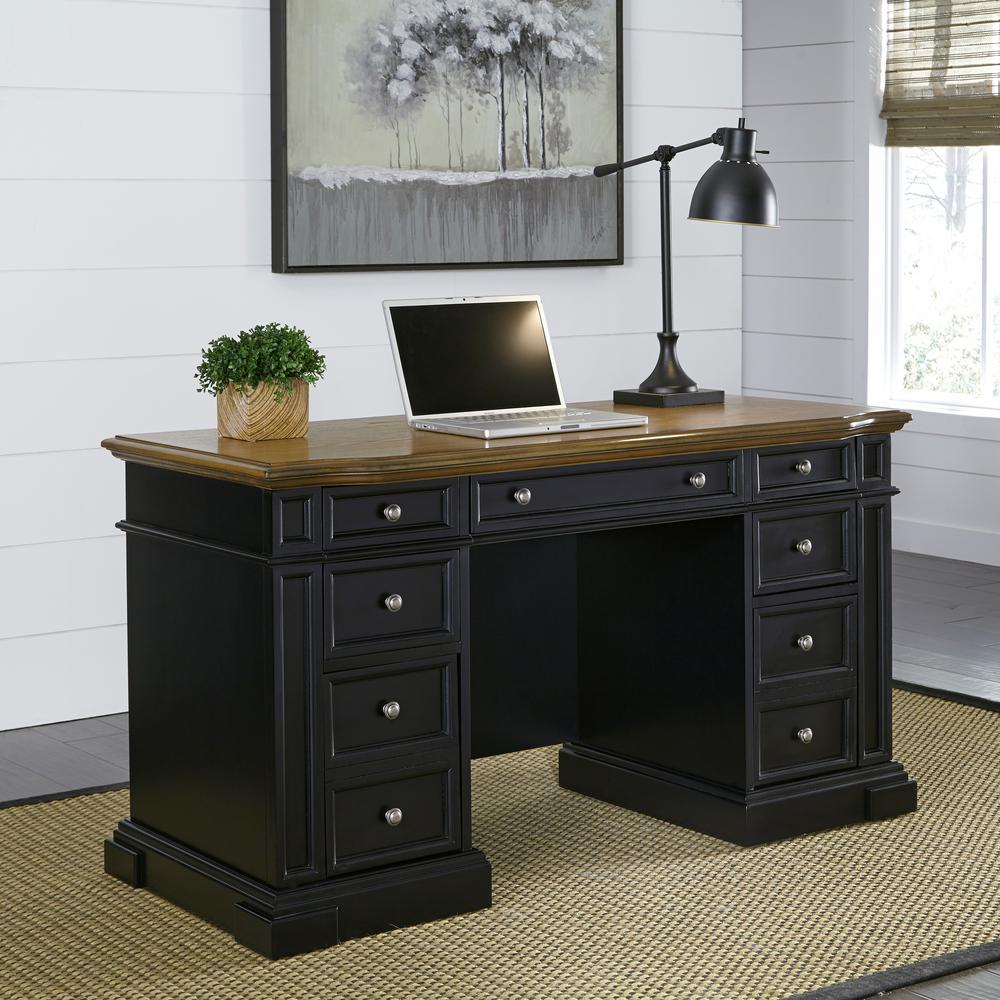 Home Styles Americana Black Desk with Storage500318