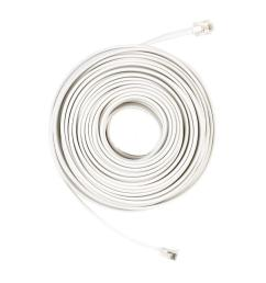 commercial electric 50 ft telephone line cord white [ 1000 x 1000 Pixel ]