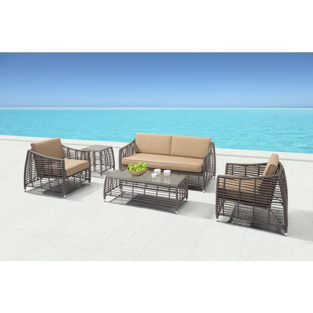 Cool Lounge Chairs Zuo Trek Beach Aluminum Outdoor Lounge Chair With Beige Cushion