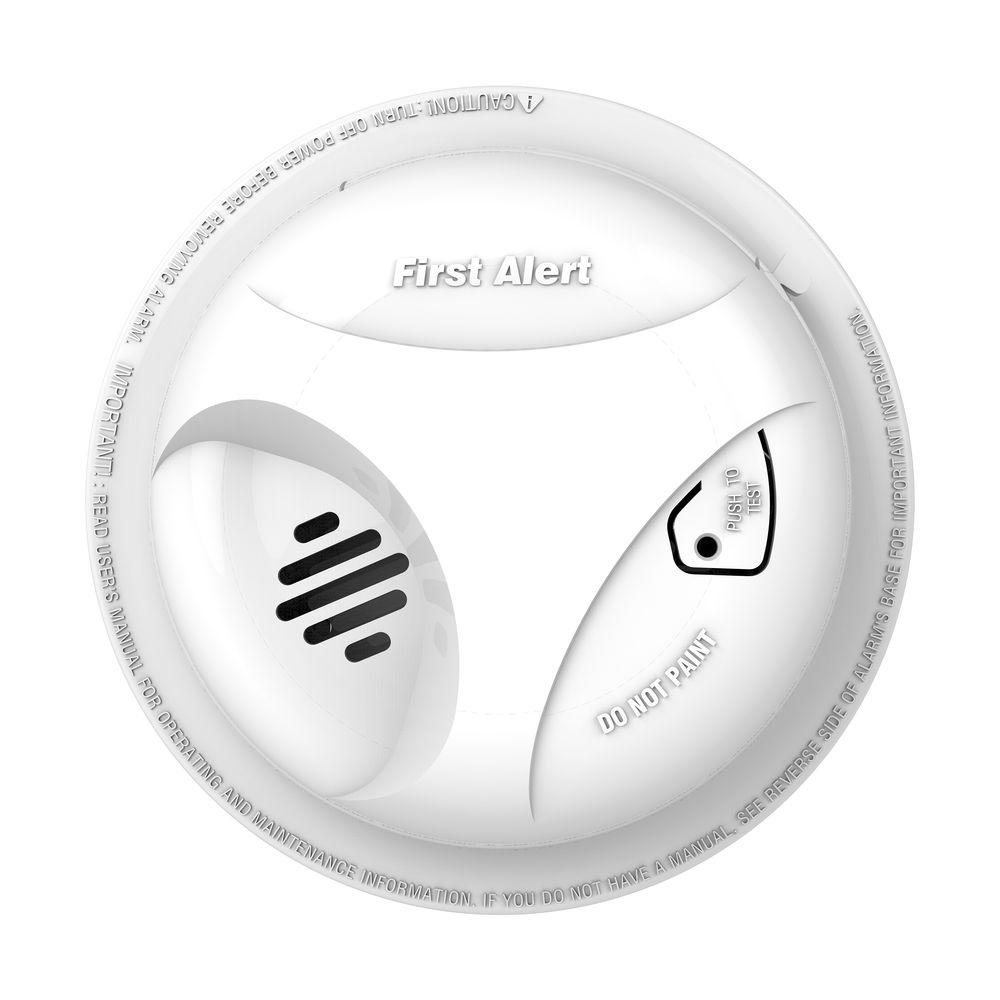 hight resolution of battery operated smoke detector alarm