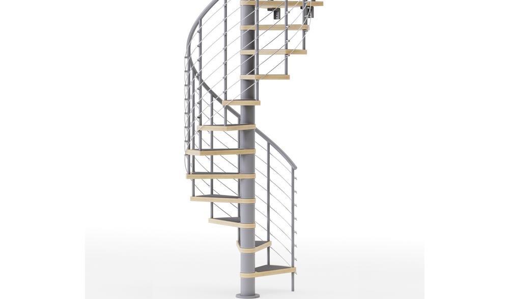Mylen Stairs Hayden Gray Interior 42 Diameter 15 Treads With 1 42 | 6 Foot Spiral Staircase | Tread Depth | Stair Kit | Metal | Building Code | Hayden Gray