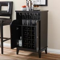 Altra Furniture Carver Black 18-Bottle Bar Cabinet ...