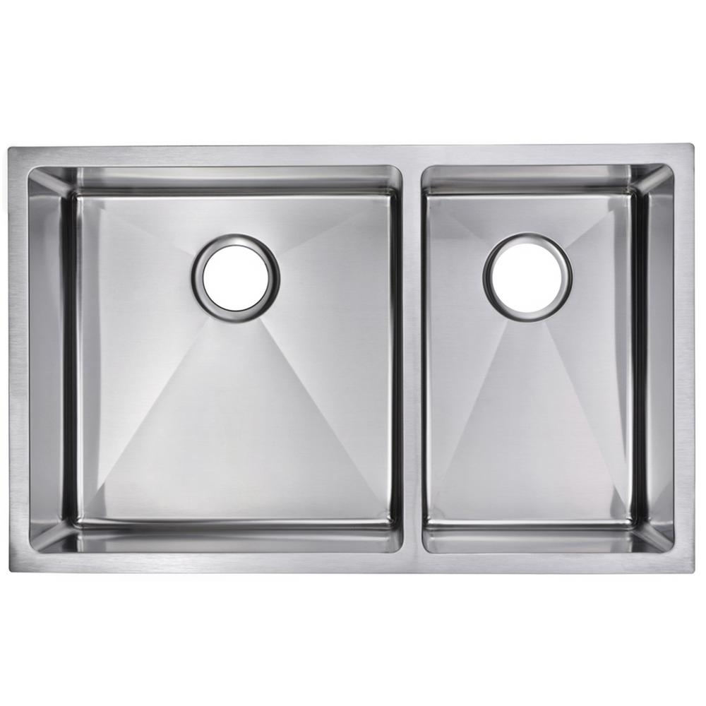 Water Creation Undermount Stainless Steel 32 in Double