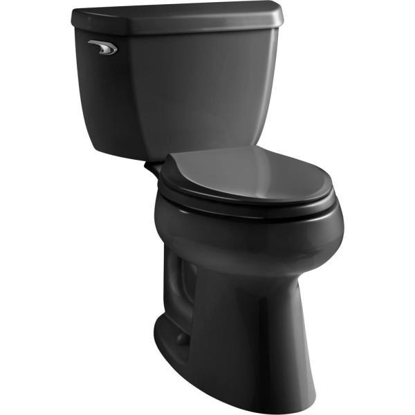 Kohler Highline Classic 2-piece 1.0 Gpf Single Flush Elongated Toilet In Black Black-5299-7