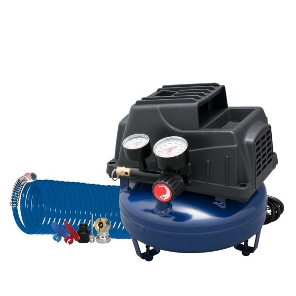 Campbell Hausfeld 1 Gal. Air Compressor With Basic Inflation Kit-fp2028 - Home Depot