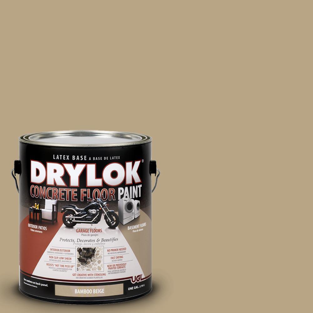 DRYLOK 1 Gal Bamboo Beige Latex Concrete Floor Paint 209156 The Home Depot