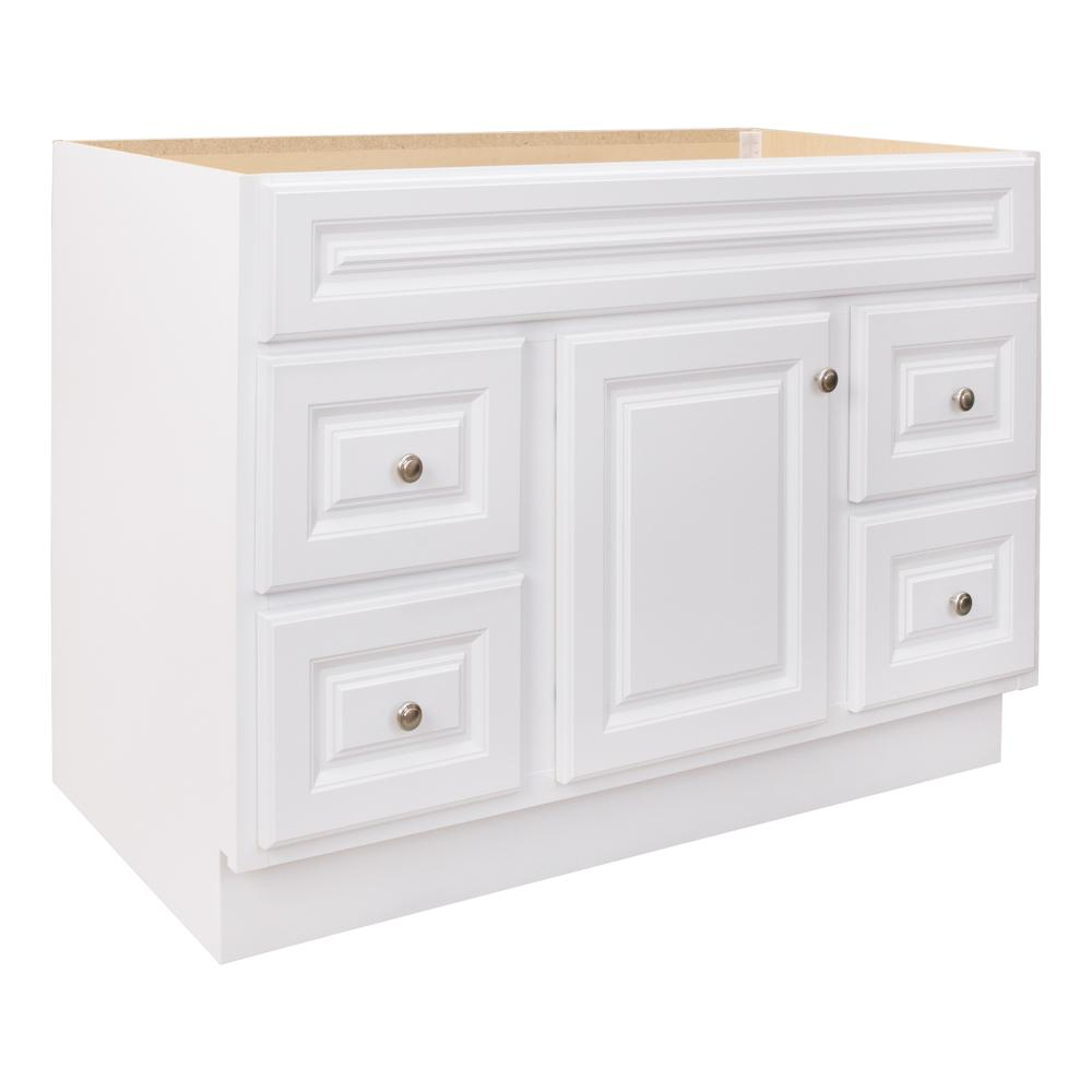 48 Bathroom Vanity Cabinet Glacier Bay Hampton 48 In W X 21 In D X 33 5 In H Bathroom Vanity Cabinet Only In White