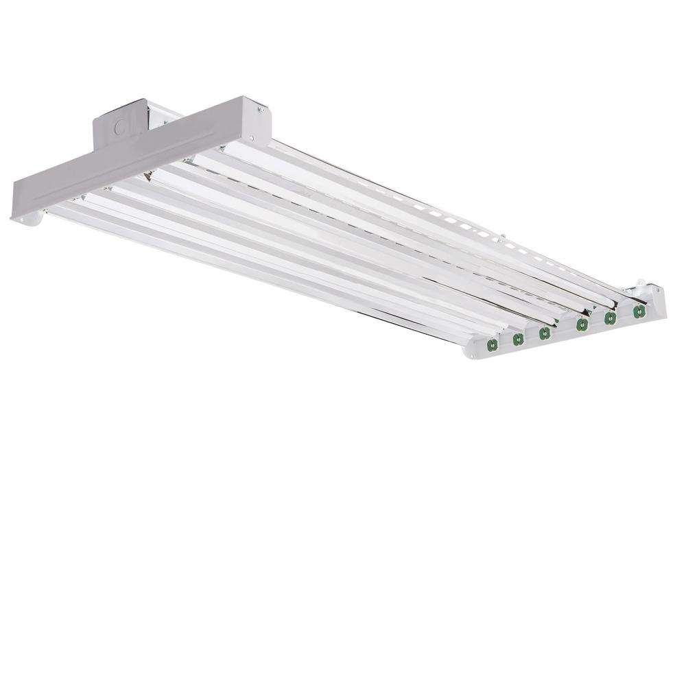 hight resolution of high bay industrial 6 light grey hanging fluorescent fixture