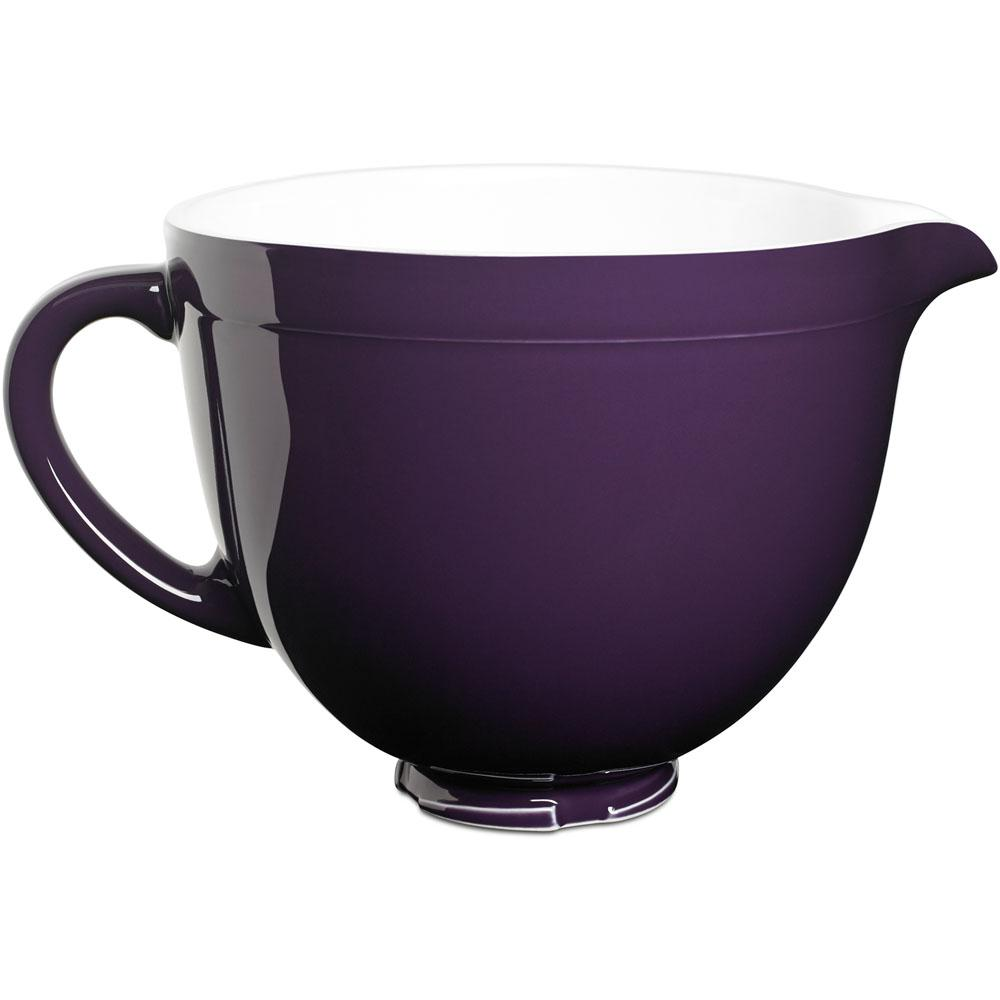kitchen aid bowls used cabinets for sale by owner kitchenaid 5 qt tilt head ceramic bowl in regal purple ksmcb5rp