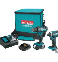 18 volt lxt lithium ion cordless driver drill and impact driver combo kit  [ 1000 x 1000 Pixel ]