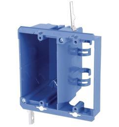 carlon 2 gang pvc dual voltage box bracket case of 12  [ 1000 x 1000 Pixel ]