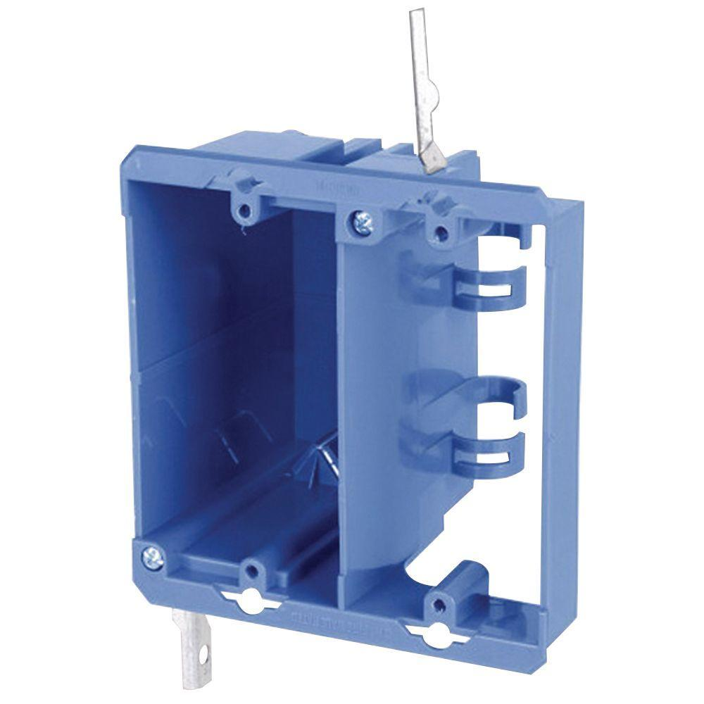 hight resolution of carlon 2 gang old work pvc dual voltage box bracket