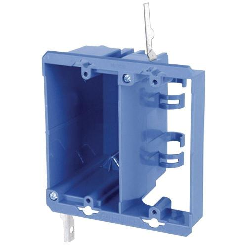 small resolution of carlon 2 gang old work pvc dual voltage box bracket