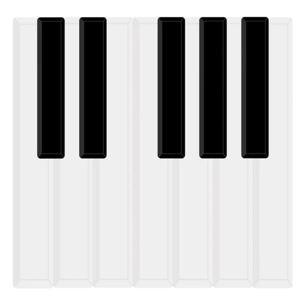 black piano keys wall