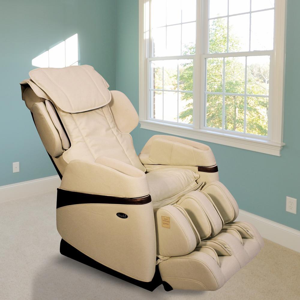 reclining massage chair leather pub titan osaki tan faux os 3700cream