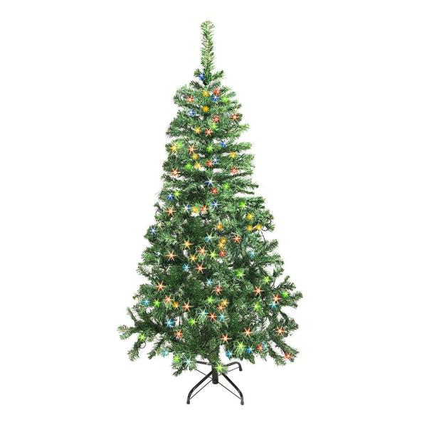National Tree Company 6 Ft. Canadian Grande Fir Artificial Christmas With Multicolor Lights