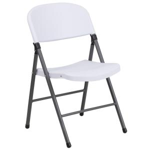 folding chair dolly 50 capacity lumbar support lifetime white 22804 the home depot plastic with charcoal frame
